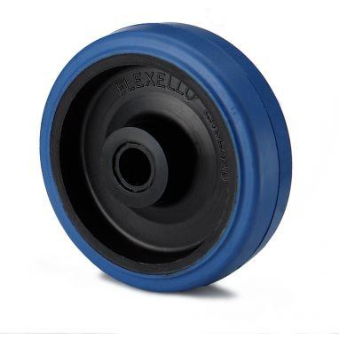 wiel, Ø 100 x 35mm, elastische rubberband, 160KG