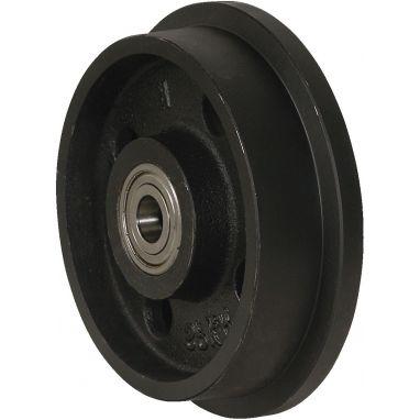 flenswiel, Ø 125 x 36/46mm, gietijzer wiel, 1000KG