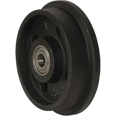 flenswiel, Ø 180 x 36/48mm, gietijzer wiel, 1200KG