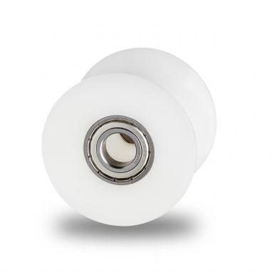 diabolorollen 70mm, buisrail wielen met dubbele precisie kogellager in de as. Asgat-Ø:10mm