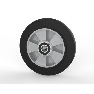 wiel, Ø 200 x 50mm, elastische rubberband, 400KG