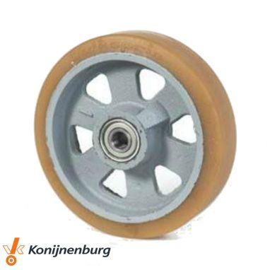 wiel, Ø 125 x 40mm, Vulkollan®, 400KG