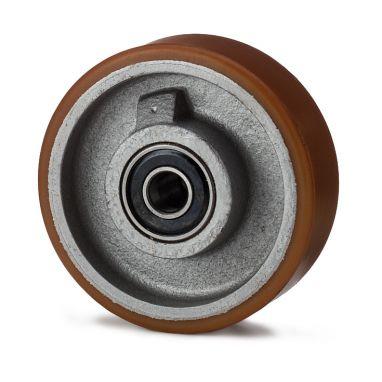 wiel, Ø 250 x 80mm, Vulkollan®, 1800KG