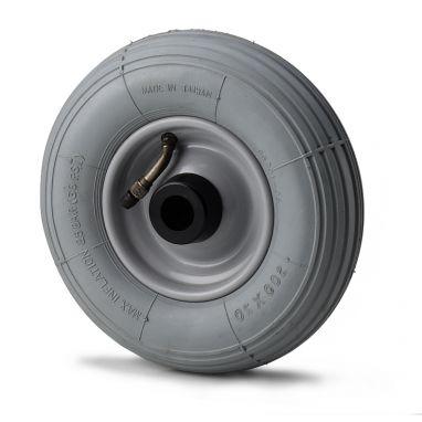 wiel, Ø 200 x 50mm, Luchtband met lijnprofiel, 75KG