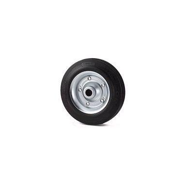 wiel, Ø 125 x 37,5mm, zwarte rubberband, 130KG