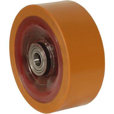 wiel, Ø 250 x 100mm, opgevulkaniseerde polyurethaanband, 2500KG