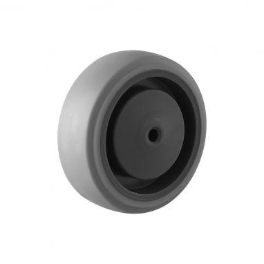 wiel, Ø 100, grijze niet-strepende thermoplastische rubberband, 120KG