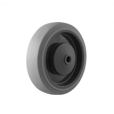 wiel, Ø 125, grijze niet-strepende thermoplastische rubberband, 160KG