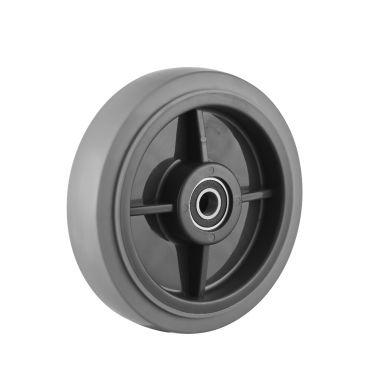 wiel, Ø 200, grijze niet-strepende thermoplastische rubberband, 250KG