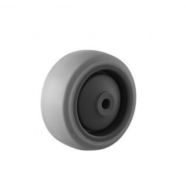 wiel, Ø 80, grijze niet-strepende thermoplastische rubberband, 100KG