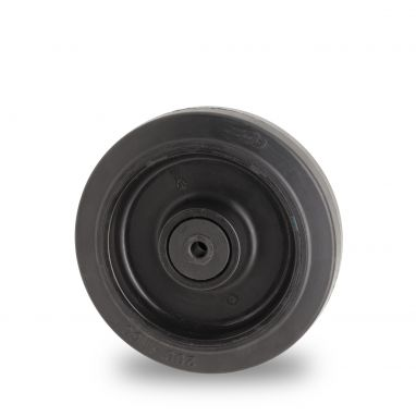 wheel, Ø 200mm, vulcanized elastic rubber tires, 450KG