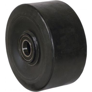 wiel, Ø 400 x 100mm, opgevulkaniseerde elastische rubber band, 1800KG