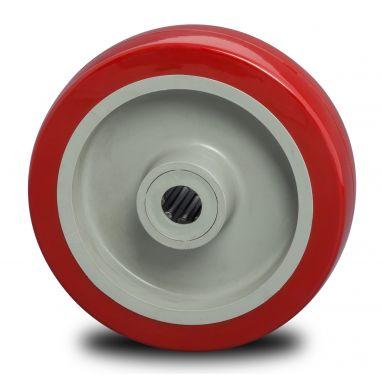 wiel, Ø 125 x 35mm, gespoten polyurethaan, 250KG