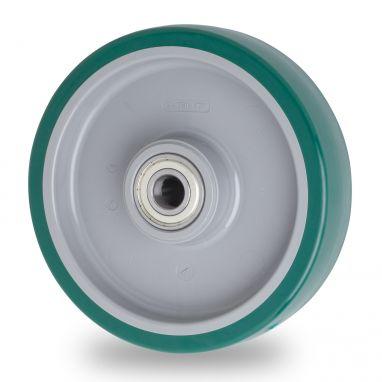 wiel, Ø 160 x 50mm, gespoten polyurethaan, 400KG