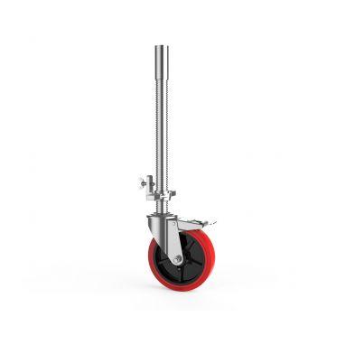 Steigerwiel 200 mm met rem en draadspindel 500 mm