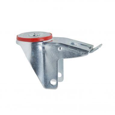 swivel castor fork with brake Ø200mm bolt hole 300KG