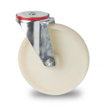 zwenkwiel, Ø 200 x 50mm, geheel polyamide (PA6) wiel, 300KG