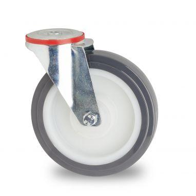 zwenkwiel, Ø 200mm, gespoten polyurethaan, 300KG