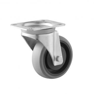zwenkwiel, Ø 100, grijze niet-strepende thermoplastische rubberband, 120KG