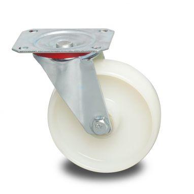 zwenkwiel, Ø 125 x 40mm, geheel polyamide (PA6) wiel, 250KG