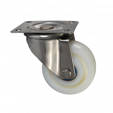 zwenkwiel, Ø 125mm, geheel polyamide (PA6) wiel, 700KG