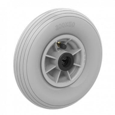 wiel, Ø 200mm, luchtband met lijnprofiel, 60KG