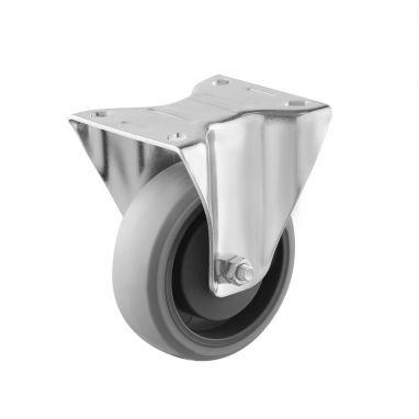 bokwiel, Ø 100, grijze niet-strepende thermoplastische rubberband, 120KG