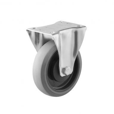 bokwiel, Ø 125, grijze niet-strepende thermoplastische rubberband, 160KG