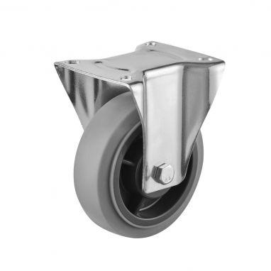 bokwiel, Ø 160, grijze niet-strepende thermoplastische rubberband, 200KG