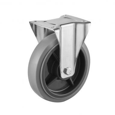 bokwiel, Ø 200, grijze niet-strepende thermoplastische rubberband, 250KG