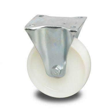 bokwiel, Ø 125 x 40mm, geheel polyamide (PA6) wiel, 250KG