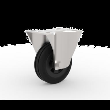 bokwiel, Ø 125 x 37,5mm, zwarte rubberband, 100KG