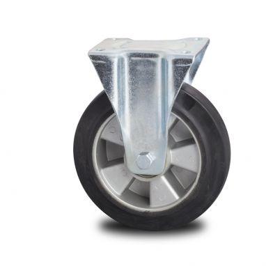 bokwiel, Ø 125mm, elastische rubberband, 250KG