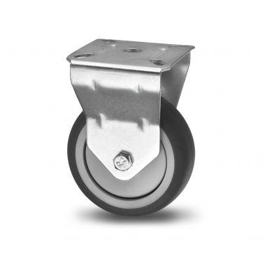 bokwiel, Ø 100 x 25mm, grijze niet-strepende thermoplastische rubberband, 80KG