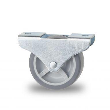 bokwiel, Ø 40 x 19mm, grijze niet-strepende thermoplastische rubberband, 45KG