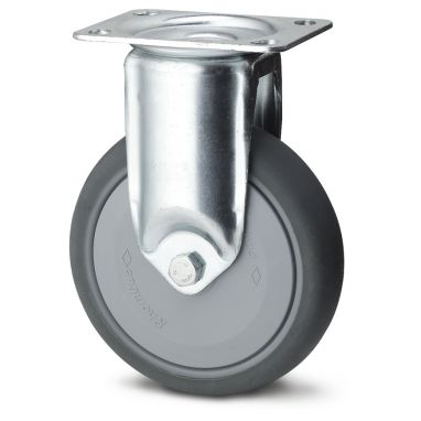 bokwiel, Ø 100 x 30mm, grijze niet-strepende thermoplastische rubberband, 100KG