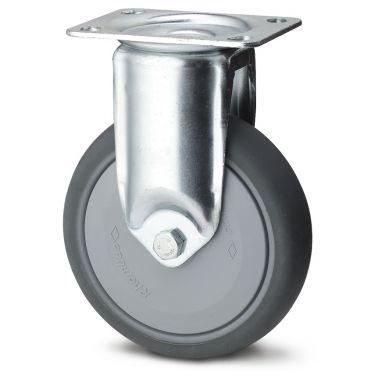 bokwiel, Ø 80 x 30mm, grijze niet-strepende thermoplastische rubberband, 100KG
