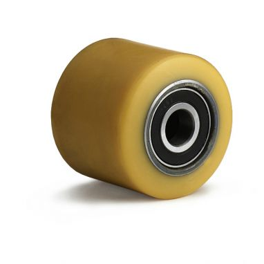 wiel, Ø 85mm, opgevulkaniseerde polyurethaanband, 750KG