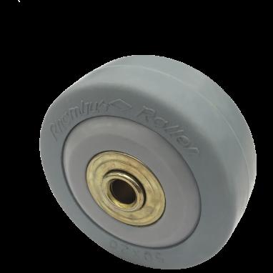 wiel, Ø 50mm, massief rubber grijs, shore A 80, 40KG