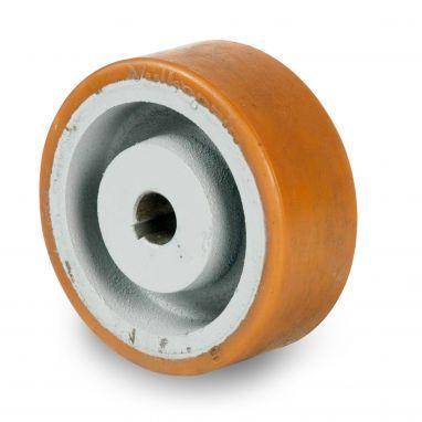 wiel, Ø 125 x 50mm, Vulkollan®, 500KG