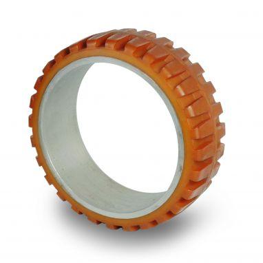 Vulkollan® heftruckbanden / persbanden, Ø 400 x 130mm, Vulkollan®, 3900KG