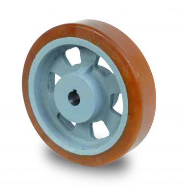 wiel, Ø 125 x 40mm, Vulkollan®, 450KG