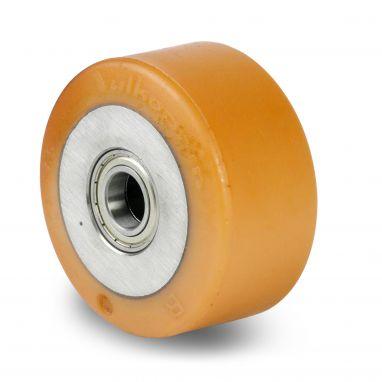 Vulkollan® Bayer loopvlak gietijzeren kern, Ø 125x65mm, 675KG