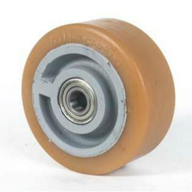 Vulkollan® Bayer loopvlak gietijzeren kern, Ø 180x65mm, 900KG