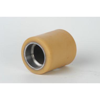 Vulkollan Pallet roller Ø150x108 mm, bearing chamber:80x21 mm, without ball bearing