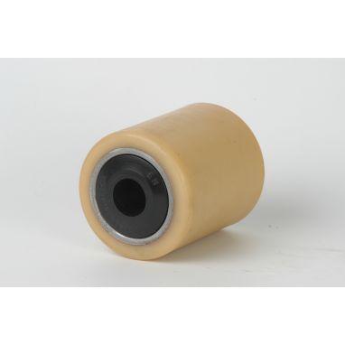 Vulkollan Pallet rollerwith plastic watertight sealing Ø85x110 mm, axle hole: 25 mm, Hub length: 110 mm