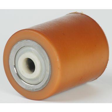 Vulkollan Pallet roller Ø90x85 mm, axle hole: 25 mm, Hub length: 94 mm