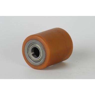 Vulkollan Pallet roller Ø85x138 mm, axle hole: 25 mm, Hub length: 136 mm