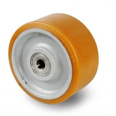 Vulkollan® Bayer loopvlak staalgelaste kern, Ø 300x135mm, 3250KG