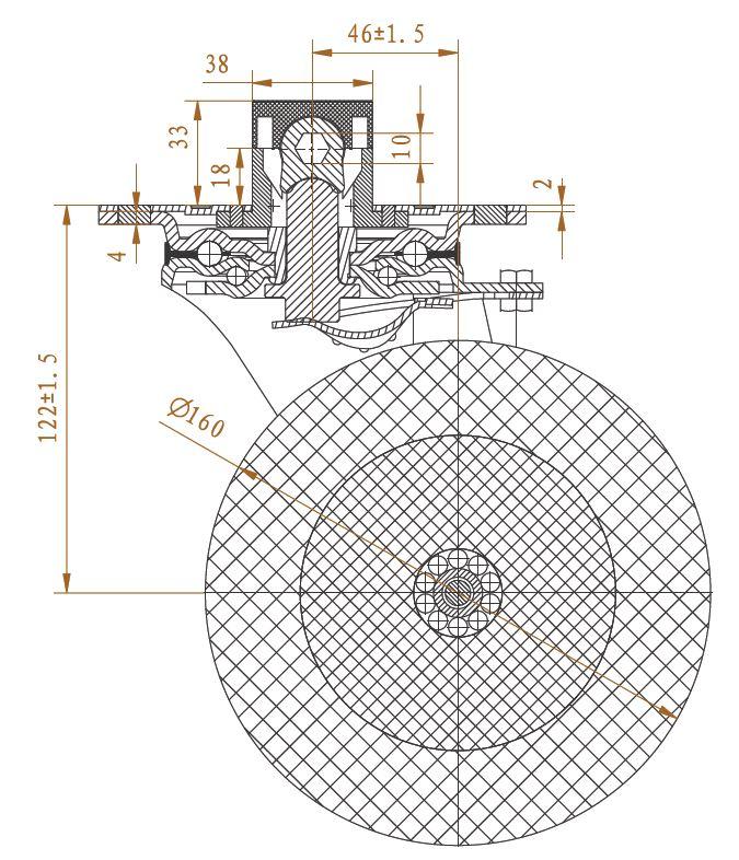 technische tekening wiel